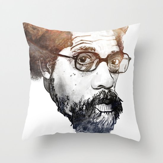 Dr. Cornel Ronald West (born June 2, 1953) Throw Pillow
