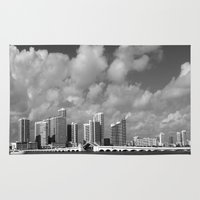 miami Area & Throw Rugs featuring Miami by Raymond Earley