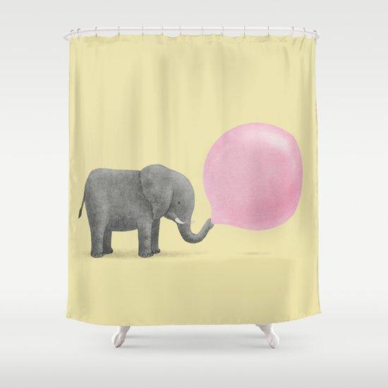 Jumbo Bubble Gum Shower Curtain