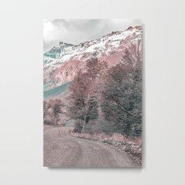 Gravel Empty Road - Parque Nacional Los Glaciares - Patagonia - Argentina Metal Print