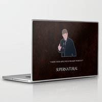 dean winchester Laptop & iPad Skins featuring Supernatural - Dean Winchester by MacGuffin Designs