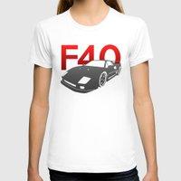 ferrari T-shirts featuring Ferrari F40 by Vehicle