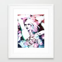 rave Framed Art Prints featuring Rave by Vaia