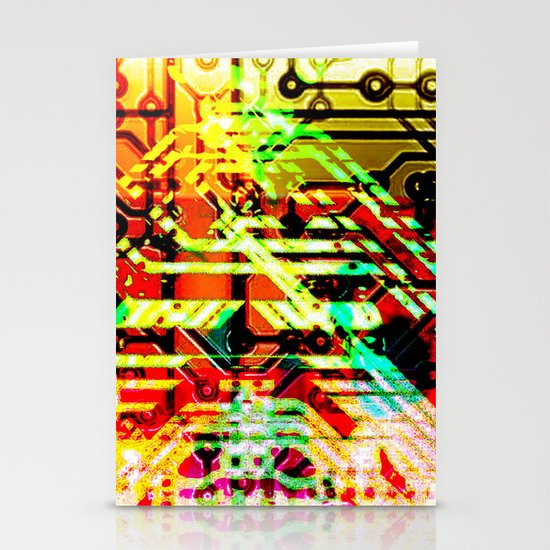 Color circuit Stationery Cards