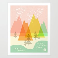 Raindrop Valley Art Print