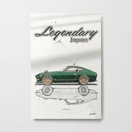 Legendary Japan Green Fairlady Z 240z S30 Poster Metal Print