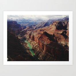 The Colorado Runs Through Marble Canyon Art Print