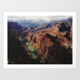 The Colorado Runs Through Marble Canyon Art Print