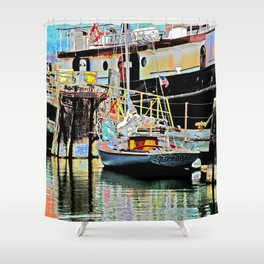 A Harbor view of Coos Bay Shower Curtain