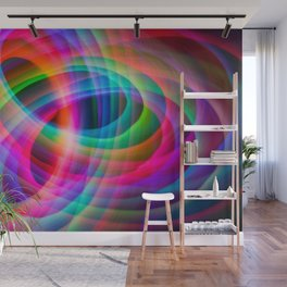 Spirograph rainbow light painting Wall Mural