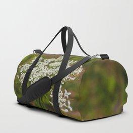 White Flower Duffle Bag