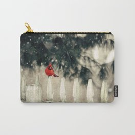 Snowy Day Cardinal Carry-All Pouch