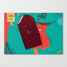 :::Licking Love::: Canvas Print