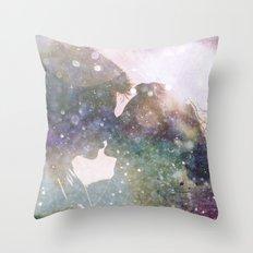Galactic Kiss - Galaxy Star Space Love Throw Pillow