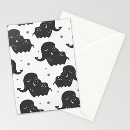 Black Elehants Stationery Cards