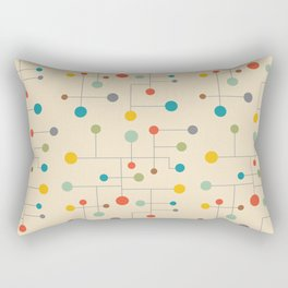 Mid-Century Dots Pattern Rectangular Pillow