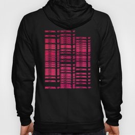 Emotional AF Emo Vaporwave Aesthetic Glitch Hoody