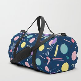 80s Xmas #society6 #retro #xmas Duffle Bag