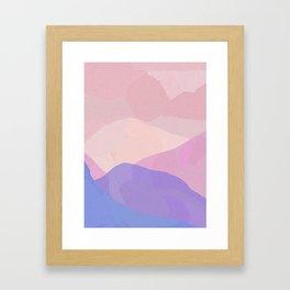 Desert Peaks Sunset Framed Art Print