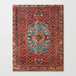 Bidjar Antique Kurdish Northwest Persian Rug Print Canvas Print