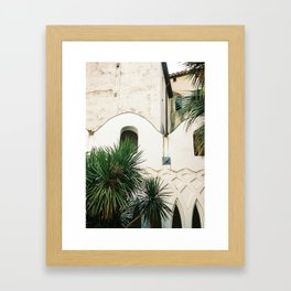 Italian architecture on the Amalfi coast | Travel photography Italy Europe Framed Art Print