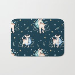 Christmas deer pattern Bath Mat