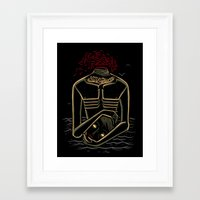 camus Framed Art Prints featuring the stranger - camus by miles to go