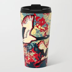 Two Cranes Metal Travel Mug
