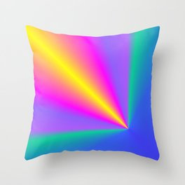 Conical Colors Throw Pillow
