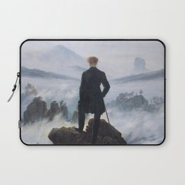 Caspar David Friedrich, Wanderer above the sea of fog, 1818 Laptop Sleeve