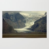 iceland Area & Throw Rugs featuring Iceland Glacier  by Factory23