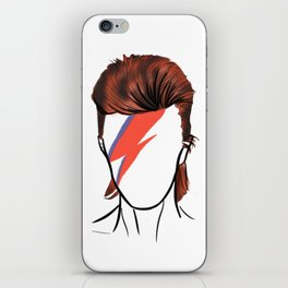 Bowie Rock Icon Silhouette iPhone Skin