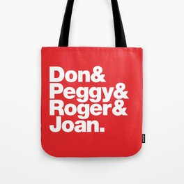 The Fab 4 - Mad Men (red) Tote Bag
