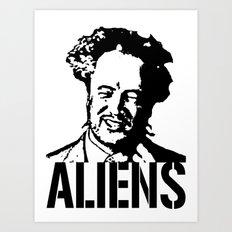 Giorgio A. Tsoukalos (The Alien Guy) Art Print
