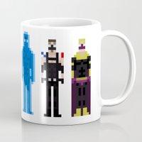 watchmen Mugs featuring 8-bit Watchmen by MrHellstorm