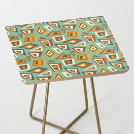 African Abstract Geometric Retro Side Table