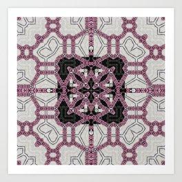 Layered Pink Tiled Pattern Art Print