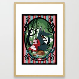 Red Riding Hood and the wolf Framed Art Print