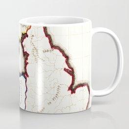 Vintage Map of The British Isles (1860) Coffee Mug