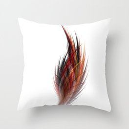 Fractal Feather Throw Pillow