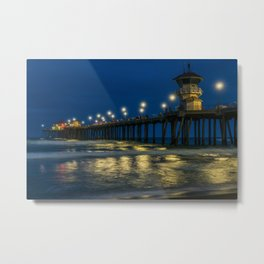 New Pier Lights Metal Print