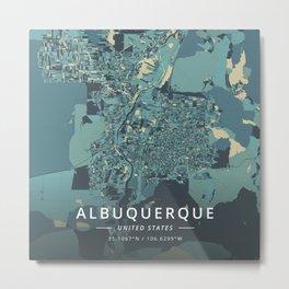 Albuquerque, United States - Cream Blue Metal Print