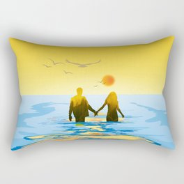 Together to Infinity II (Sunset) Rectangular Pillow