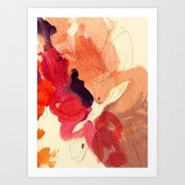 gestural abstraction 01 Art Print