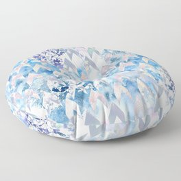 Mermaid Scales - Watercolor Geometric repeat pattern Floor Pillow