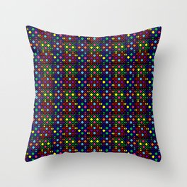 Kente Cloth Ankara Stained Glass Pattern II Throw Pillow