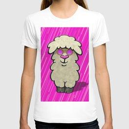 cool llama pink T-shirt