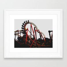 Roller Yellow Coaster Red Framed Art Print