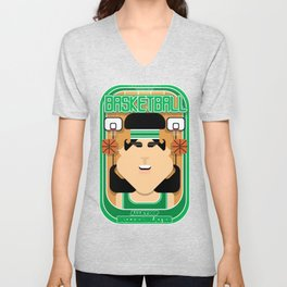 Basketball Green - Alleyoop Buzzerbeater - Amy version Unisex V-Neck