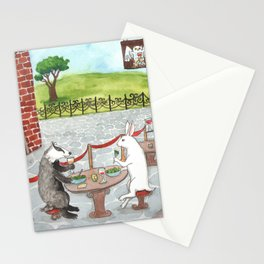 Owl and Merlot Stationery Cards